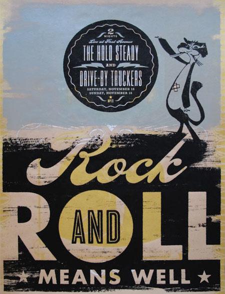 Aesthetic Apparatus  Michael Byzewski ROCK AND ROLL (UNIKAT) musik art musik posters art of rock musikposter music designe
