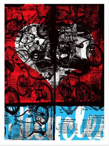 Aesthetic Apparatus Michael Byzewski BICYCLE LOVE DEPT. musik art musik posters art of rock musikposter music designe