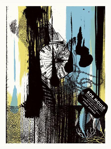 Aesthetic Apparatus  Michael Byzewski musik art musik posters art of rock musikposter music designe BOB MOULD