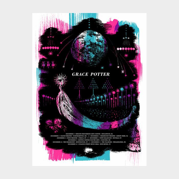 Aesthetic Apparatus Michael Byzewski GRACE POTTER musik art musik posters art of rock musikposter music designe