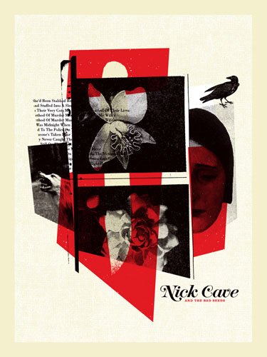 Aesthetic Apparatus  Michael Byzewski musik art musik posters art of rock musikposter music designe Nick Cave