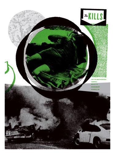 Aesthetic Apparatus Michael Byzewski THE KILLS 1 musik art musik posters art of rock musikposter music designe