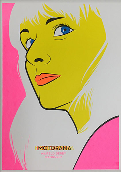 Antighost Motorama Siebdruck silkscreen Poster Musik art Artprint print