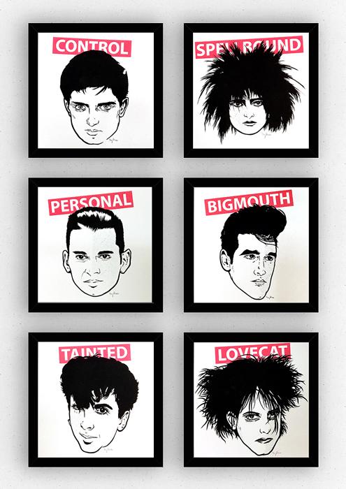 Antighost NEW WAVE LEGENDS Siebdruck silkscreen Poster Musik art Artprint print