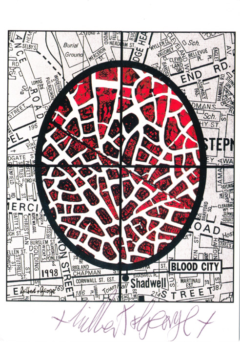 Gilbert & George contemporary art buy print siebdruck poster art Multiple Blood City