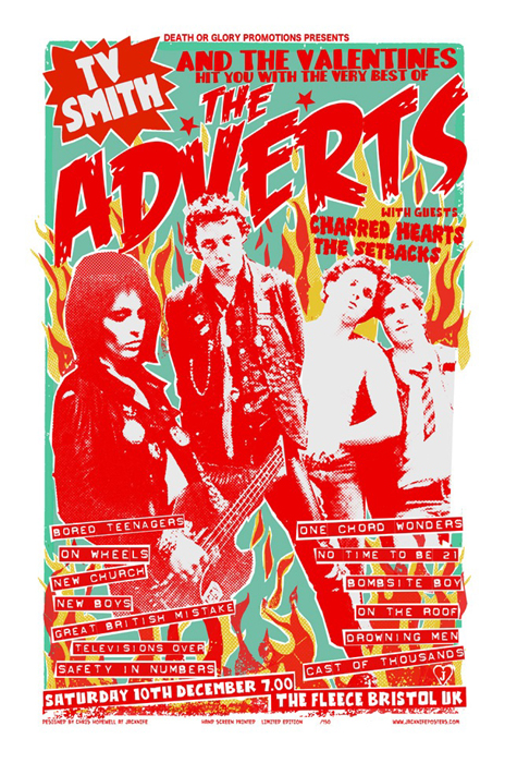 Chris Hopewell screenprint poster art of rock music art