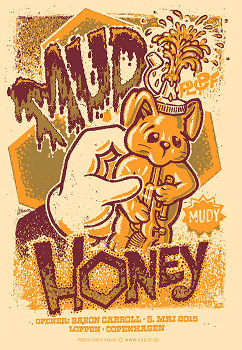 Douze Mudhoney  urban art gallery buy street art screenprint poster art of rock