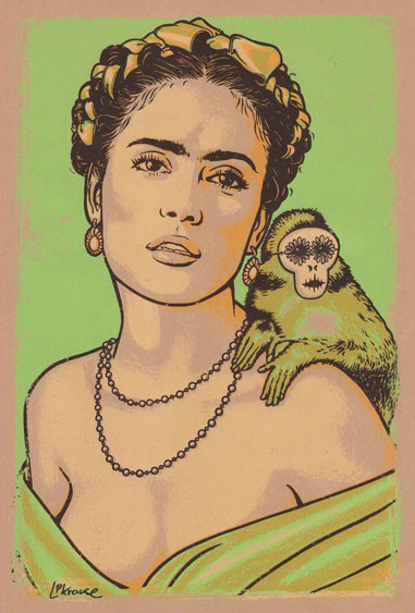 Douze Salma Frida art gallery buy street art screenprint poster art of rock