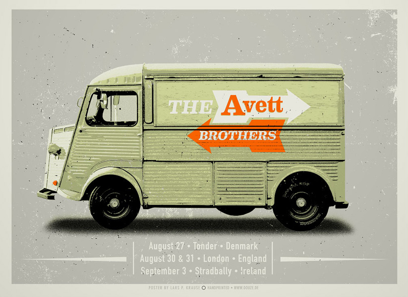 Douze THE AVETT BROTHERS urban art gallery buy street art screenprint poster art of rock