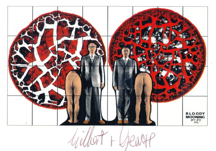 Gilbert & George contemporary art buy print siebdruck poster art Multiple Bloody Mooning
