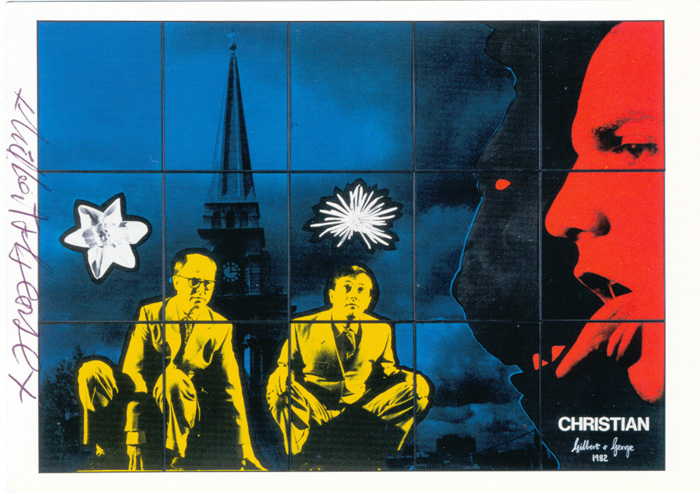 Gilbert & George contemporary art buy print siebdruck poster art Multiple Christian