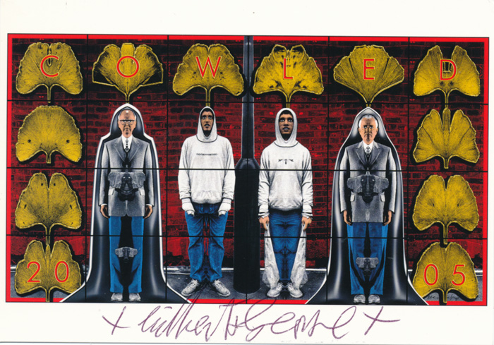 Gilbert & George contemporary art buy print siebdruck poster art Multiple Cowled