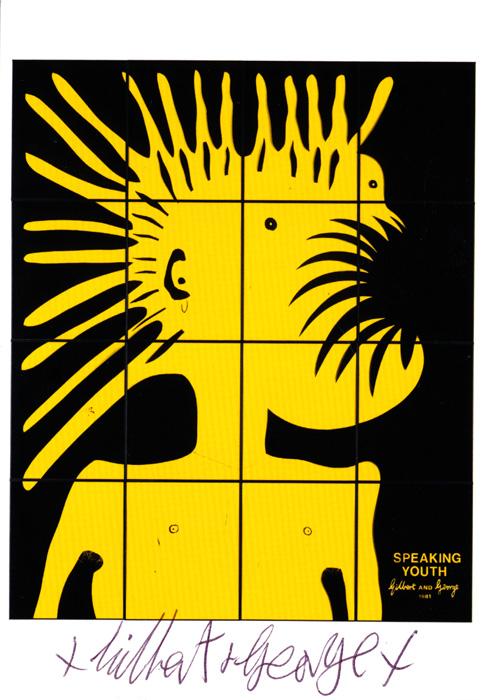 Gilbert & George contemporary art buy print siebdruck poster art Multiple Speaking Youth