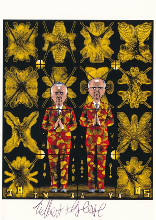 Gilbert & George contemporary art buy print siebdruck poster art Multiple Twelve