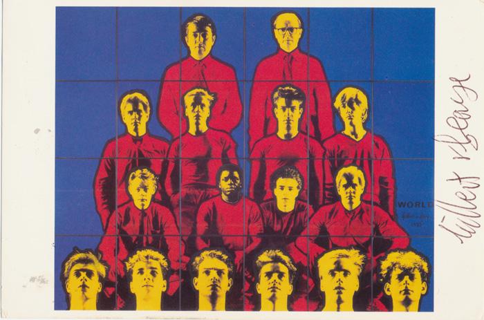 Gilbert & George contemporary art buy print siebdruck poster art Multiple world