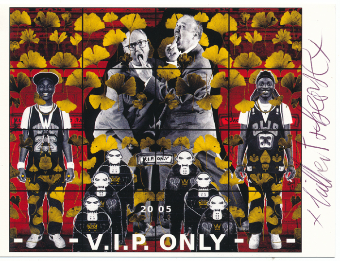 Gilbert and George signed