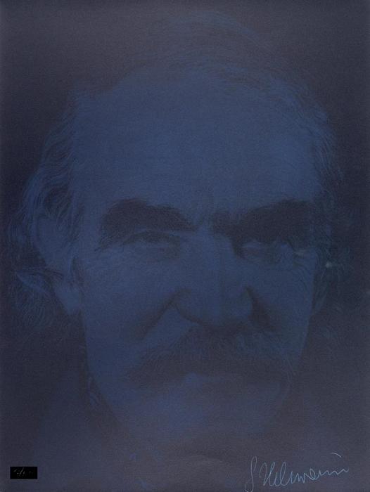 Gottfried Helnwein Multiple Radierung Druckgrafik Jean Tinguely