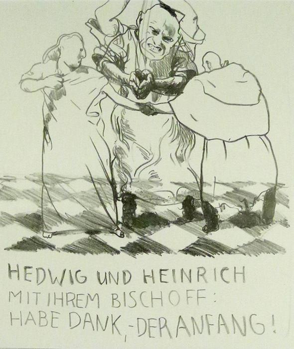Hedwig Kathedrale des Künstlers Lithografie Johannes Grützke Holzschnitt Radierung Schabradierung Offsetdruckt Druckgrafik Kaltnadelradierung