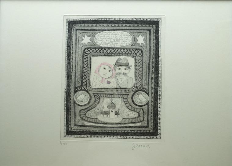 janosch radierung signiert druck serigraphy