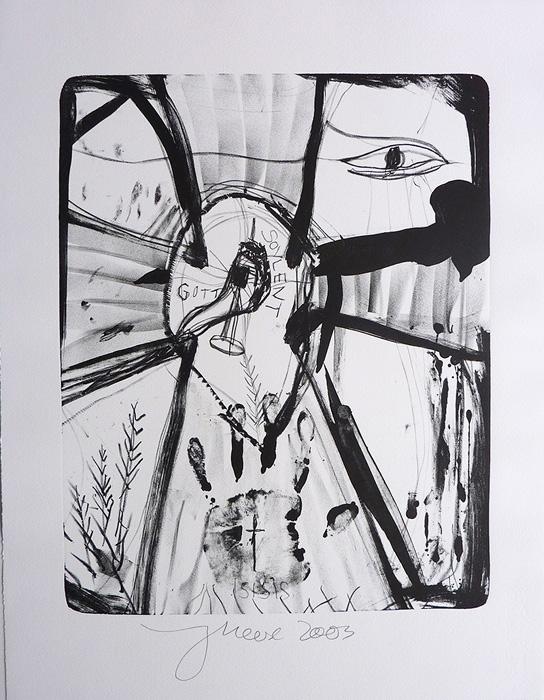 Jonathan Meese contemporary art buy art print Griffelkund Radierung Der Isisgott