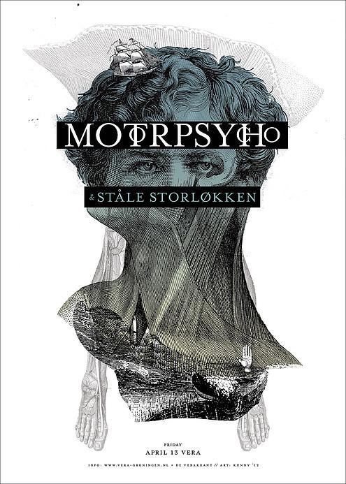 Kunny van der Ploeg siebdruck silkscreen conzert poster art of rock Motorpsycho