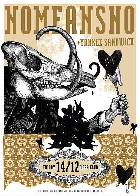 Kunny van der Ploeg siebdruck silkscreen conzert poster art of rock No Means No