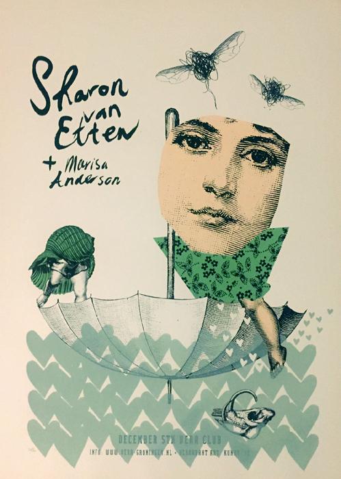 Kunny van der Ploeg siebdruck silkscreen conzert poster art of rock Sharon van Etten