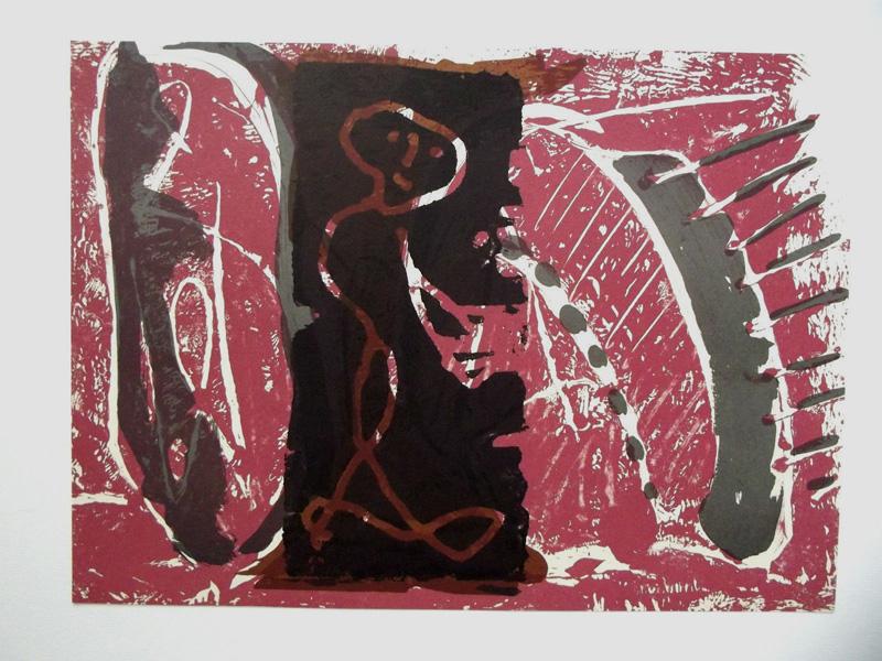 MARKUS LÜPERTZ Zwischenraumgespenster 5 Grafik Lithografie Litho Siebdruck screenprint Original Druckgrafik Druck Print Junge wilde