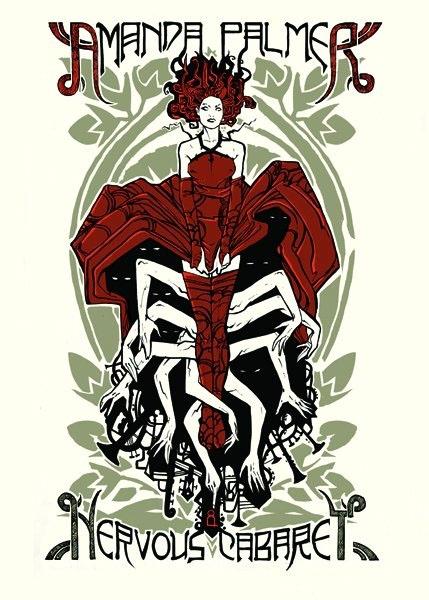 Malleus AMANDA PALMER THE NERVOUS CABARET silkscreen siebdruck concertposter poster prints art prints rock art dark nouvou
