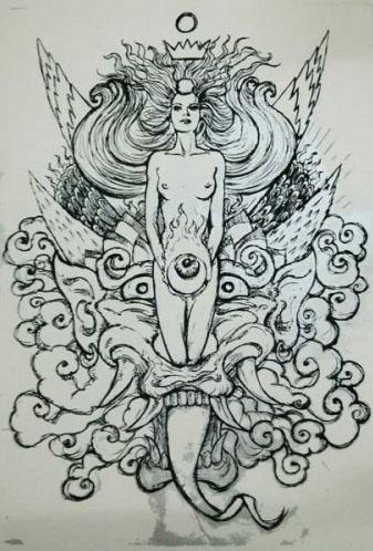 Malleus Demnia silkscreen siebdruck concertposter poster prints art prints rock art dark nouvou