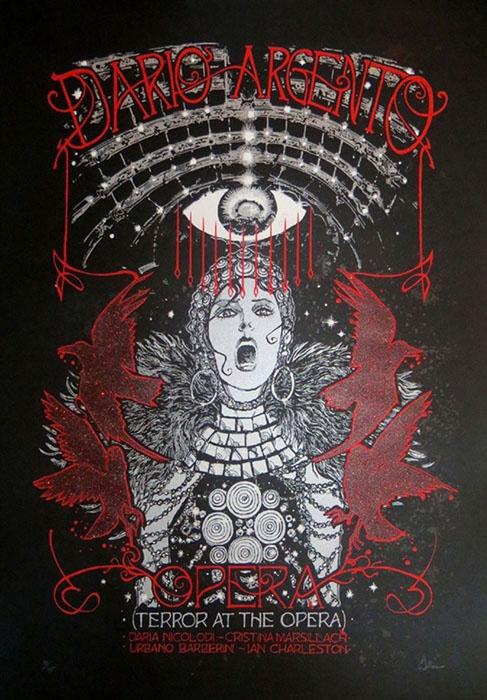 Malleus Opera silkscreen siebdruck concertposter poster prints art prints rock art dark nouvou