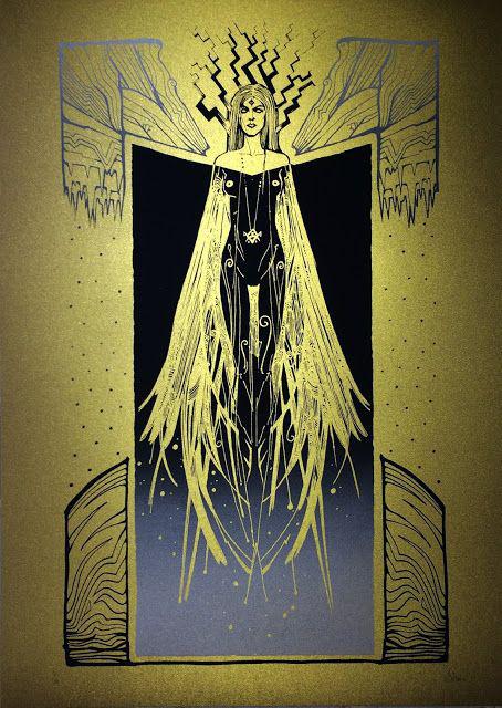 Malleus Strix silkscreen siebdruck concertposter poster prints art prints rock art dark nouvou