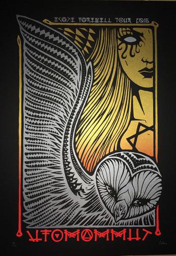 Malleus UFOMAMMUT silkscreen siebdruck concertposter poster prints art prints rock art dark nouvou