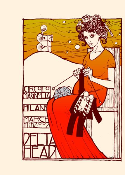 Malleus deltahead silkscreen siebdruck concertposter poster prints art prints rock art dark nouvou