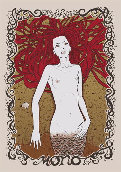 Malleus mono silkscreen siebdruck concertposter poster prints art prints rock art dark nouvou