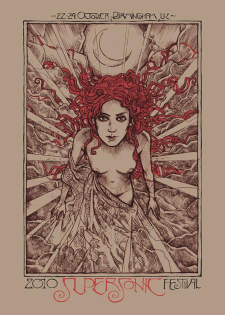 Malleus supersonic silkscreen siebdruck concertposter poster prints art prints rock art dark nouvou