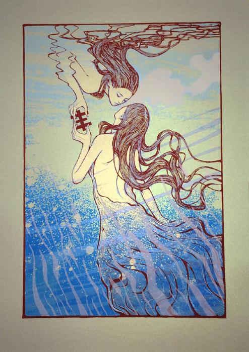 Malleus-Psychic TV Poster-Print-Art 2015  silkscreen siebdruck concertposter poster prints art prints rock art dark nouvou