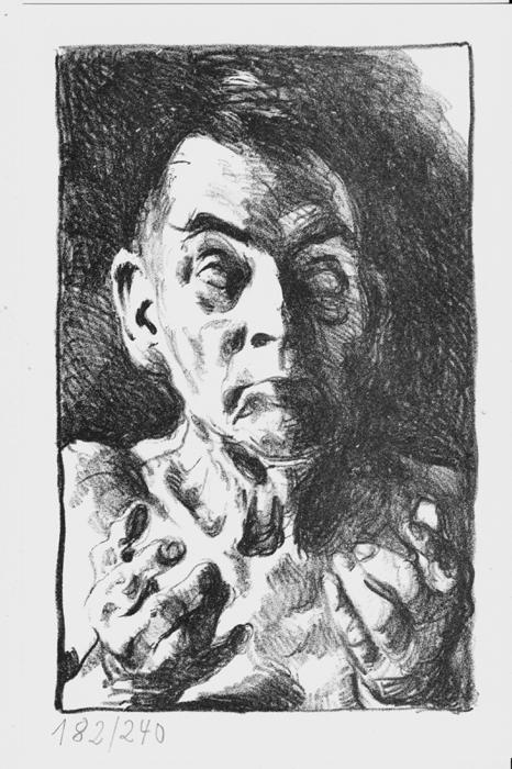 Michael Kohlhaas ohne Schwert Lithografie Johannes Grützke Holzschnitt Radierung Schabradierung Offsetdruckt Druckgrafik Kaltnadelradierung