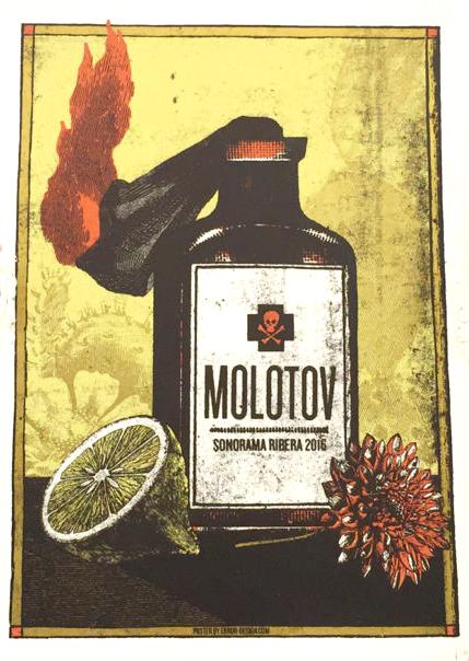 Xavi Forné, urban art gallery buy street art screenprint poster art of rock Molotov