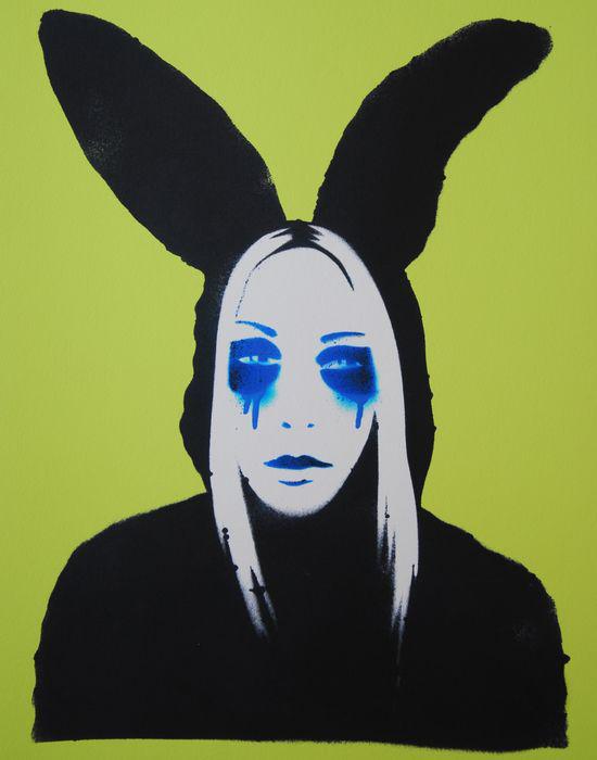 Pure Evil urban art Death Mask Siebdruck screenprint