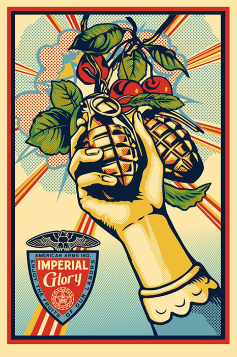 Shepard Fairey Obey offset lithograph 2013  imperial glory