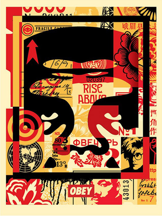 Shepard Fairey Obey offset poster 2016 face cream