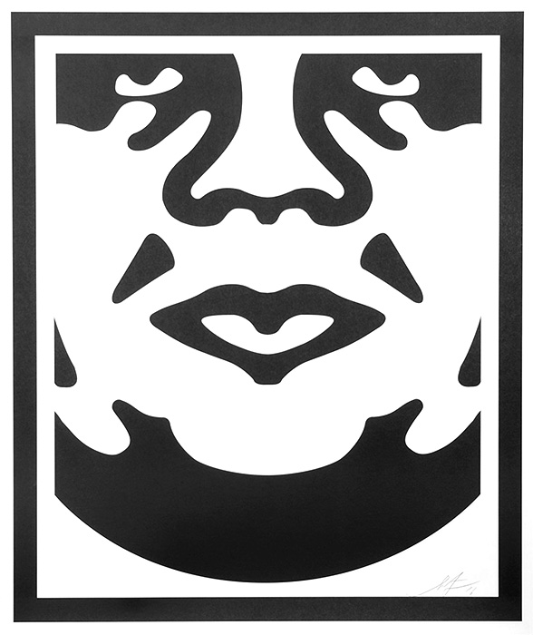 Shepard Fairey Obey offset print 2010 obey face white 3