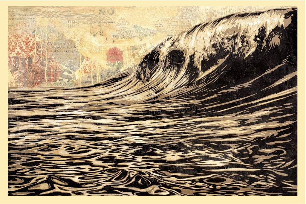 Shepard Fairey Obey offsett print  2017 dark wave