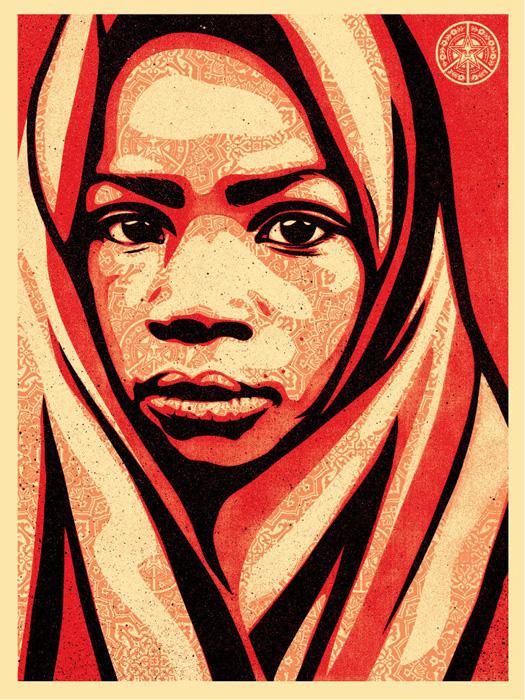 Shepard Fairey Obey silkscreen Siebdruck poster urban art blanket