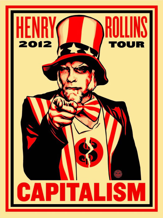 Shepard Fairey Obey silkscreen Siebdruck 2012  rollins capitalism poster