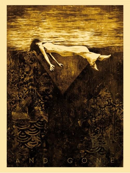 Shepard Fairey Obey silkscreen Siebdruck 2012 clementine poster