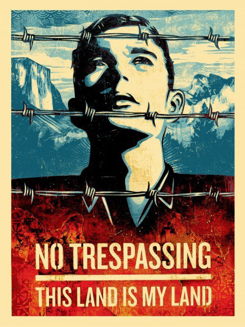 Shepard Fairey Obey silkscreen Siebdruck 2012 this land is your land americana box set