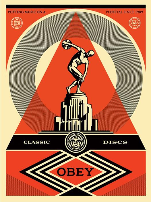 Shepard Fairey Obey silkscreen Siebdruck 2013 pedestal poster