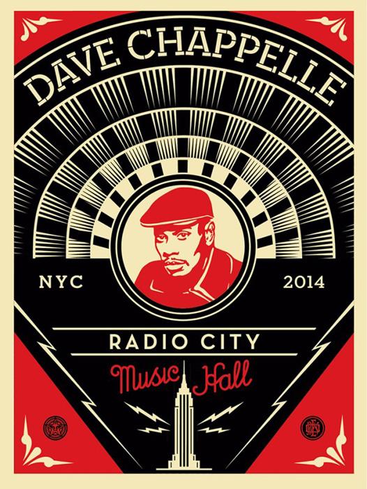 Shepard Fairey Obey silkscreen Siebdruck 2014 dave chappelle poster